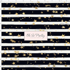 PREORDER R53 - Spotted Puppies - Black and White Stripe with Stars