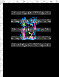 CATALOG - PREORDER R53 - Sleeping Princess - Malificent on Black - PANEL