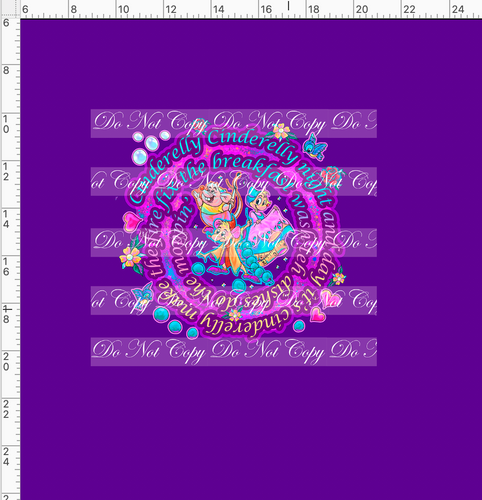 CATALOG PREORDER R54 - A Dream is a Wish - Mice Panel - Dark Purple - ADULT