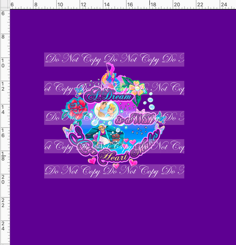 CATALOG - PREORDER  R54 - A Dream is a Wish - Dream Panel - Dark Purple - ADULT