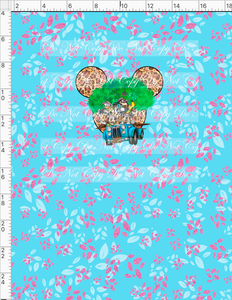 PREORDER R55 - Safari Adventures - Panel - Everyone - Pink Leaves - CHILD