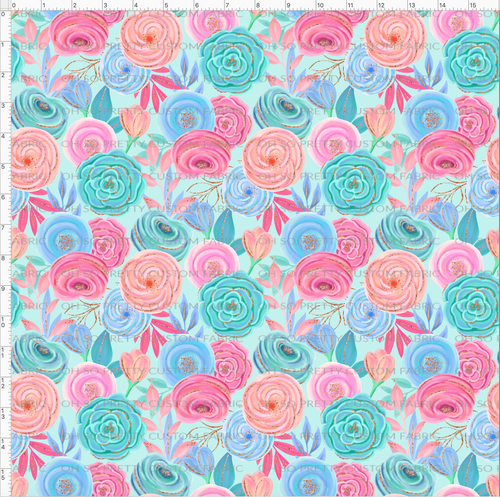 Retail Spring Blossoms Floral on Blue