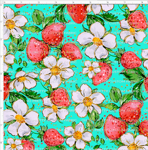 Retail Strawberry Kids Floral-Teal