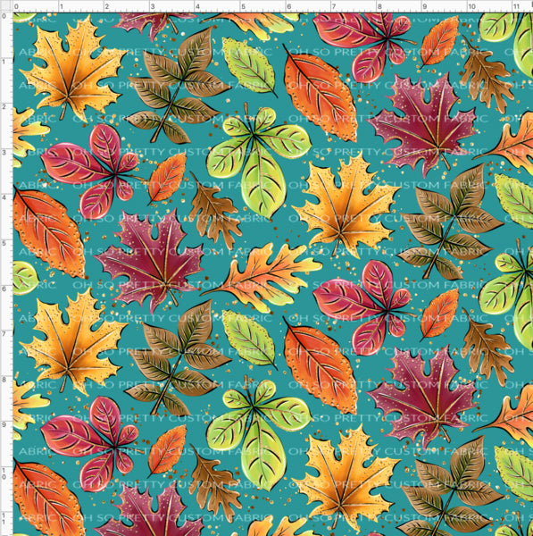 Retail Fall Flash Teal Floral