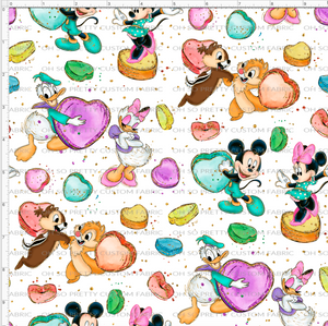 PREORDER R55 - Paisley - Characters with Candy on White