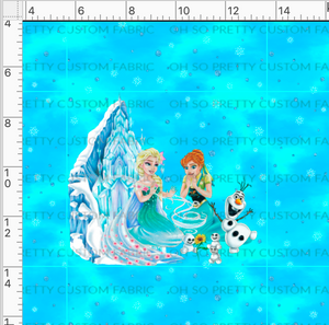 Retail Build a Snowman Sisters Blue Panel