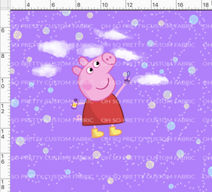 CATALOG PREORDER R33 - Pink Pig - One Pig - Purple Panel