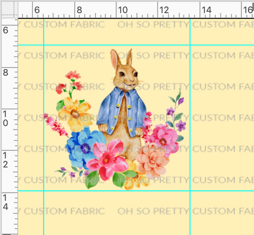 Retail A Rabbit's Tale-Single Rabbit Panel-Yellow