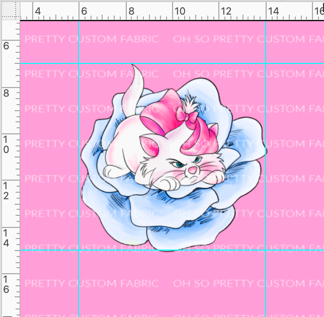 CATALOG PREORDER R38 - Pastel Cats  - Flower Panel