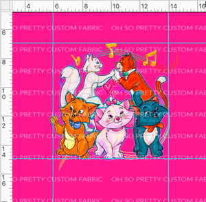 CATALOG R38 - Pretty Kitty -5 Cats-Pink Panel
