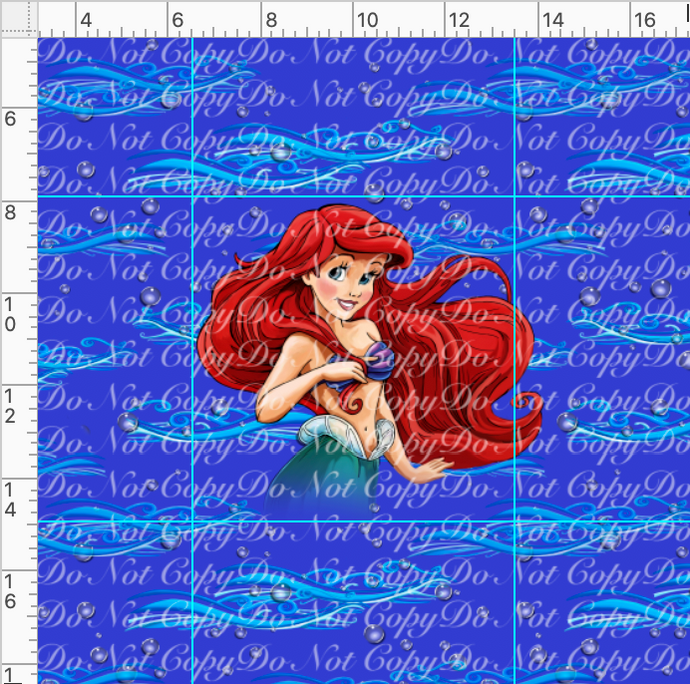 PREORDER R37-Dinglehopper-Mermaid Panel