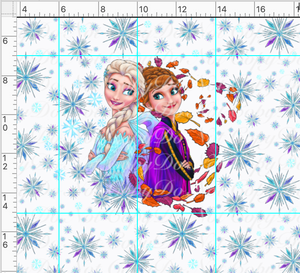 PREORDER R45 - Ice Adventures-Sisters Panel-White-Child