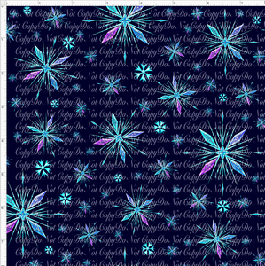 PREORDER R37-Ice Adventures-Snowflakes-Navy