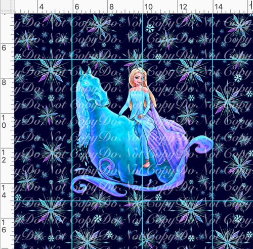 PREORDER R45 - Ice Adventures-Horse Panel-Navy-Child