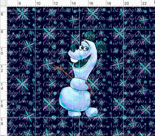 PREORDER R37 - Ice Adventures-Snowman Panel-Navy-Adult