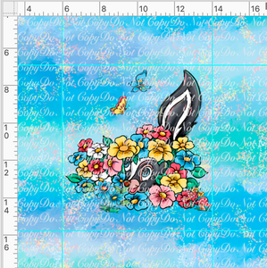 CATALOG - PREORDER R38 - Spring Meadow-Flower Panel-Blue