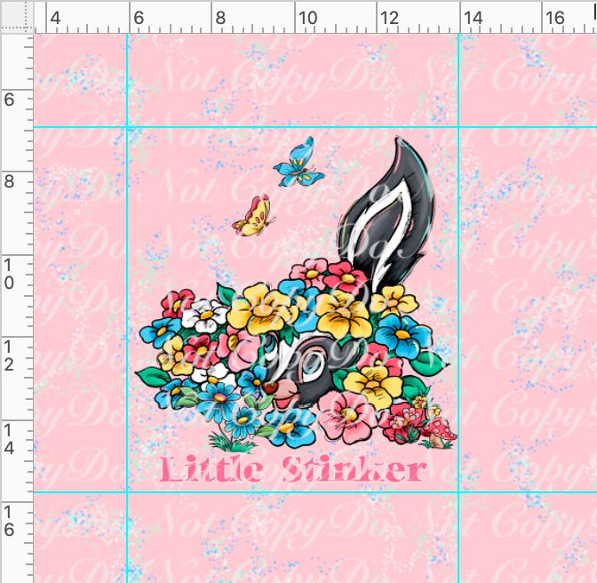 CATALOG - PREORDER R38 - Spring Meadow-Stinker Panel-Pink