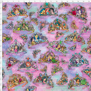 CATALOG R38- Princess Dreams - Crowns Main Large Scale (16.76x16.76)