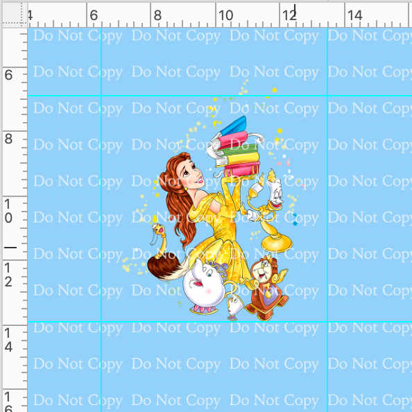 CATALOG - PREORDER R40 - Princess Palooza - Belle Panel