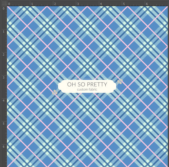 Retail Storybook Rabbit Blue Plaid