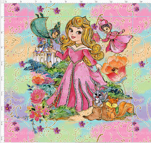 Retail P-16 Briar Rose Lattice Colorful Panel
