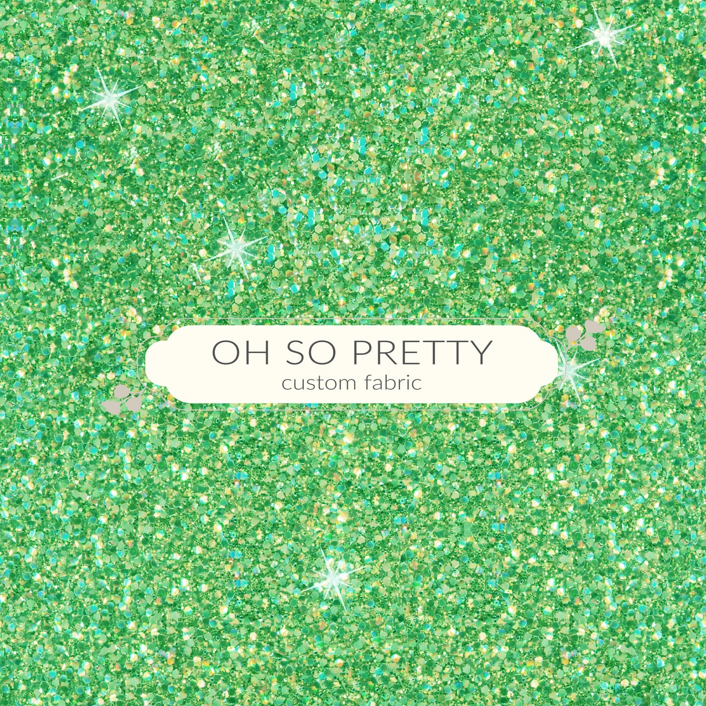 Retail Back to school green glitter