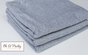 M-85-Heather Grey- Premium Knit 220 GSM