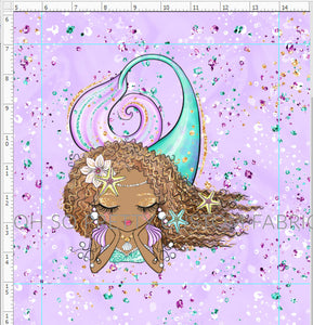 Retail Mermazing Purple Brown Girl Curly Hair Panel