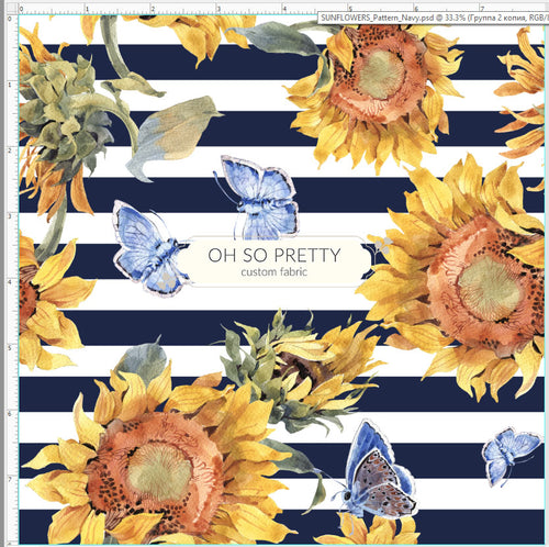 Preorder Summer Essential Sunflower Navy Floral