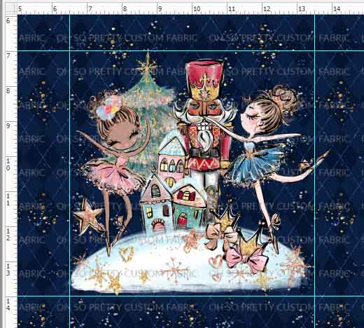 Retail Nutcracker Panel Design 1 Navy