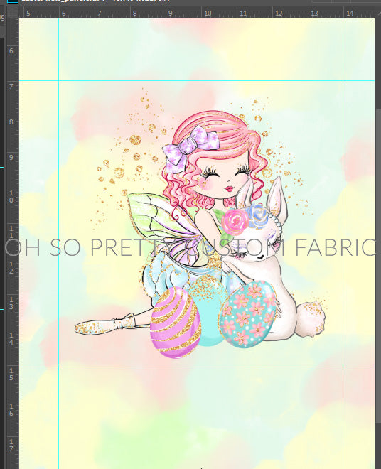 Retail Easter Fairies pink hair panel