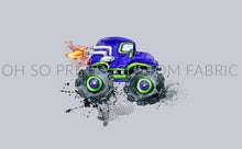 Retail Monster Trucks on Gray Panel
