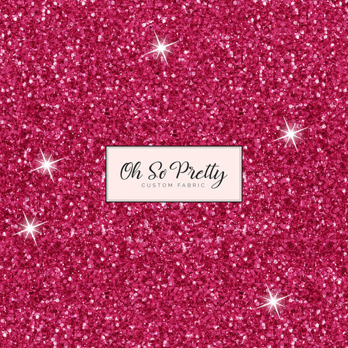 Retail Spring Floral Pink Glitter