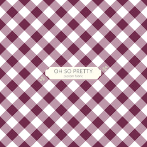 Preorder Autumn Essentials Plum Gingham