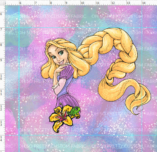 Preorder R29 P-7 Princess Dreams Golden Hair Princess Panel