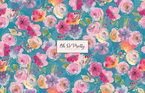 Retail January Spring Floral Teal