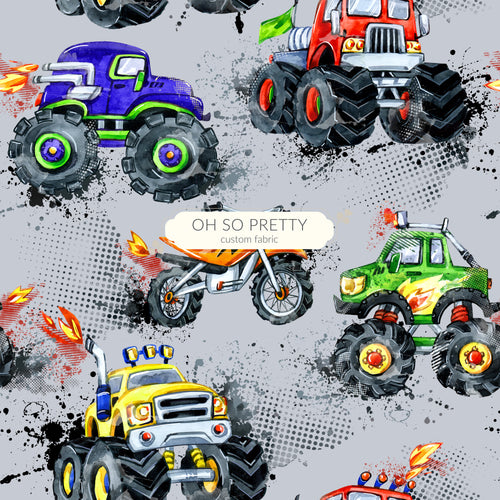 Retail Monster Trucks on Gray