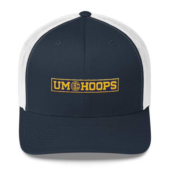 UM Hoops Retro Trucker Hat