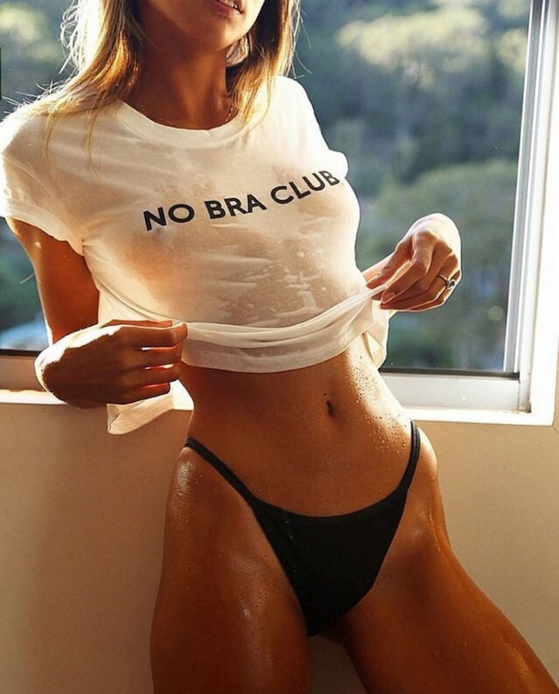 NO BRA CLUB TEE