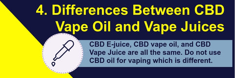 CBD Vape Juice and CBD Vape Oil Fact