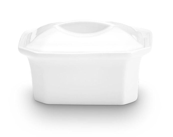 Oblong Faceted Casserole with Lid