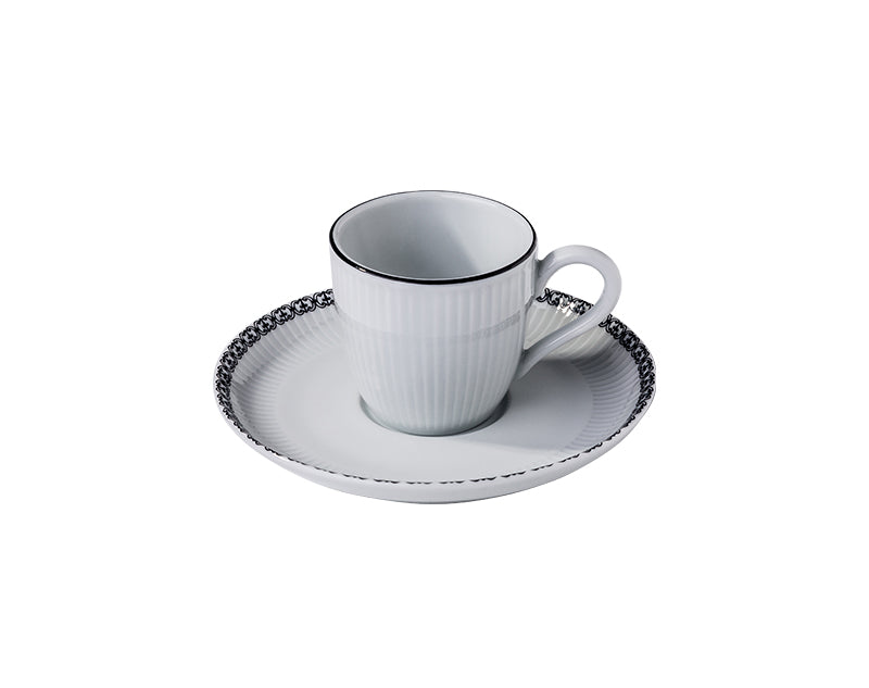 Ville de Paris, Plissé Cups and Saucers, Sets of 4