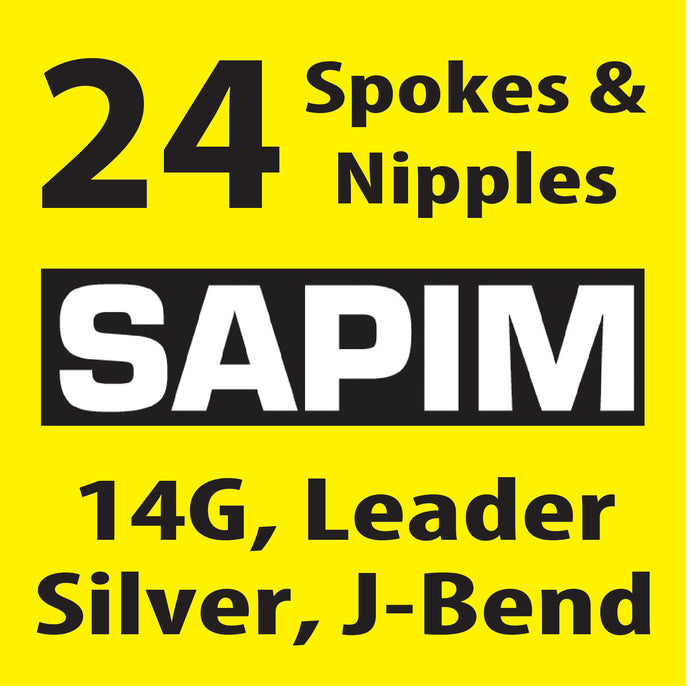 Sapim Leader, Silver, 24 Spokes and Nipples