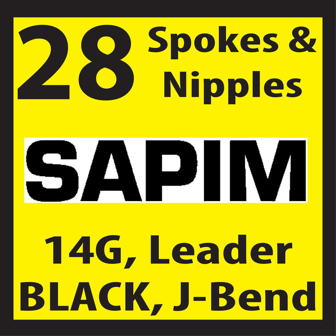 Sapim Leader, Black, 28 Spokes and Nipples
