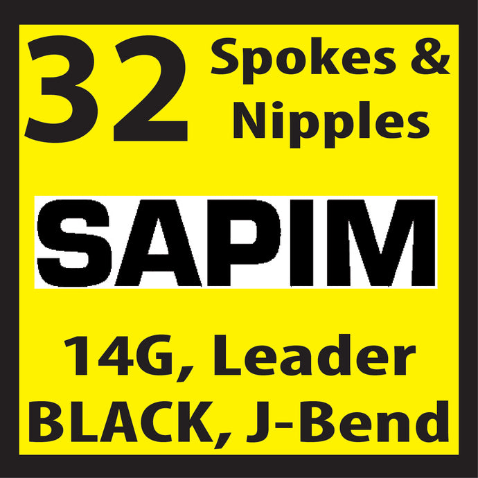 Sapim Leader, Black, 32 Spokes and Nipples