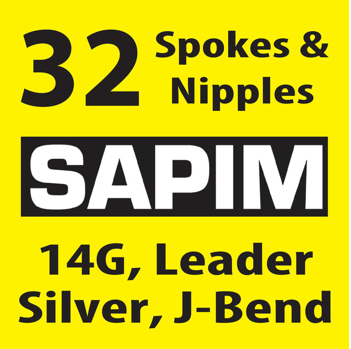 Sapim Leader, Silver, 32 Spokes and Nipples