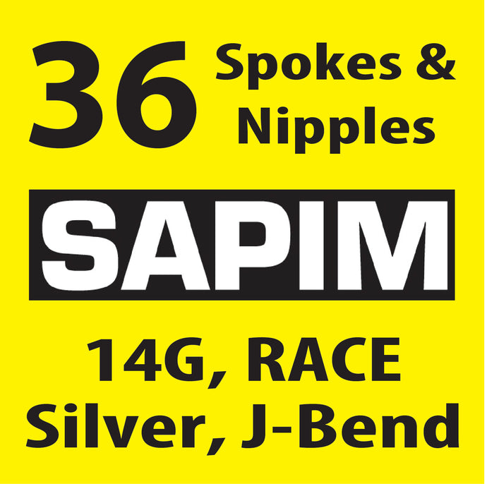 Sapim Race, Silver, 36 Spokes and Nipples
