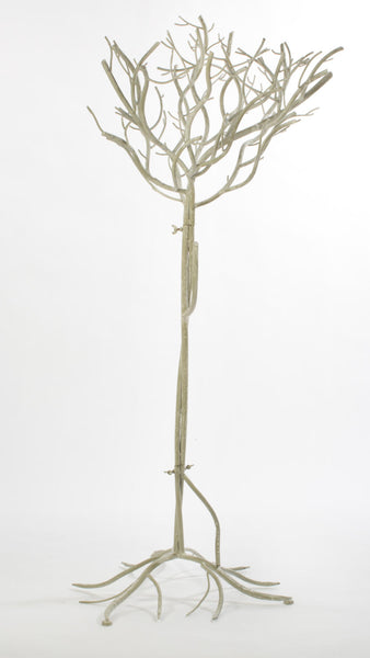 Large White Natural Metal Tree