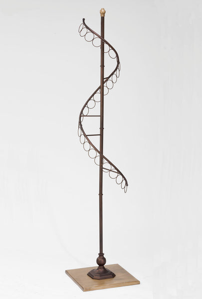 Bronze Rotating Scarf Tree (Hoops)