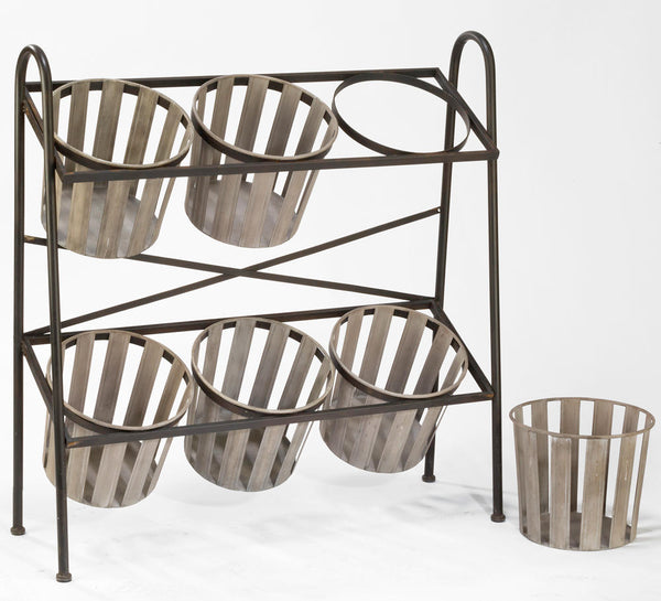 2-Tier Iron Display w/ Removable Baskets